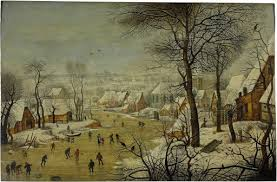 <b>Winter landscape</b> with a bird trap - Pieter Brueghel the Younger ...