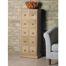 baumhaus mobel oak multi drawer dvd cd storage chest morale home furnishings baumhaus mobel oak dvd