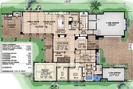 Coastal Contemporary Story Home Plan   WE   st Floor    Floor Plan