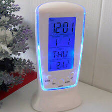 <b>Electric LED Digital</b> Alarm Clock Blue Light <b>Thermometer</b> Display ...