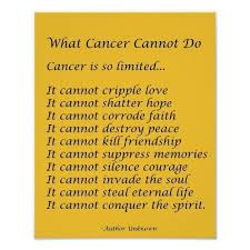 Inspirational Quotes For Cancer Families. QuotesGram via Relatably.com