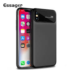<b>Essager</b> Phone Case for iPhone X 10 8 7 Plus Tempered Glass + ...