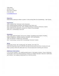 sample resume cosmetology resume cosmetologist hair cosmetology    hair