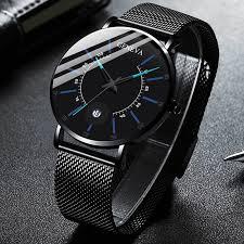 <b>Fashion</b> Men's Classic Geneva Watch <b>Luxury Stainless</b> Steel Quartz ...