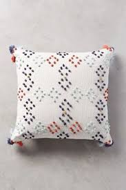 diamond dot pillow anthropologiecom 68 with navy back and bottom zip 18 anthropologie style furniture
