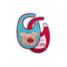 <b>Нагрудник Happy Baby Pig</b> 2 шт. - Акушерство.Ru