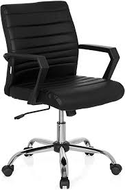 HJH Office Ergosmooth 723051 <b>Office Chair Artificial</b> Leather Black ...