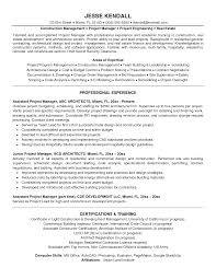 project management sample manager resume sample project manager construction manager resume sample