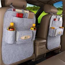 <b>Car Seat Back</b> Hanging <b>Multi</b>-<b>function</b> Car Storage Bag - Light Gray
