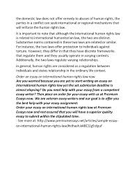 sample essay on international human rights lawif