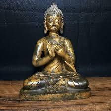 Chinese <b>Exquisite</b> Handmade Buddha <b>copper Gilt</b> statue | eBay