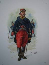 Voltigeurs of the French <b>Imperial</b> Guard officer 1870, <b>by Patrice</b> ...