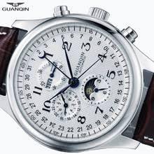 <b>GUANQIN</b> Automatic <b>Mens</b> Watch <b>Sapphire Mechanical</b> Calendar ...