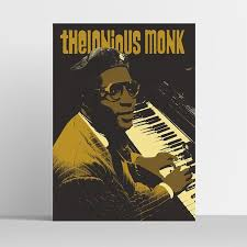 Thelonious Monk Poster Classic Jazz Print
