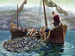 Resultado de imagen de jesus predicando desde la barca
