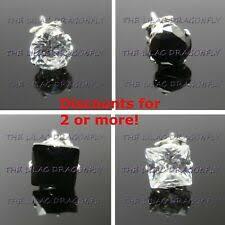 <b>Black Cubic Zirconia</b> Earrings & Studs for Men for sale | eBay