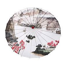 H.eternal Asian Japanese Chinese <b>Umbrella</b> Oil Paper Bamboo ...