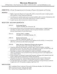 chronological resume sample  project managementchronological resume sample project management  c susanireland