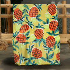 Colorful Orange Pineapple Pattern Double-sided Flannel Home <b>Nap</b> ...