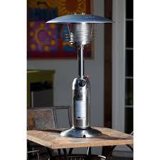 output stainless patio heater: fire sense  btu stainless steel tabletop propane gas patio heater  the home depot