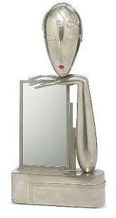 table mirror: art deco mirror for dressing table by franz hagenauer   werkstatten