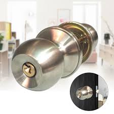 Entrance Knob Handle Keyed Entry <b>Door Locks Stainless Steel</b> ...