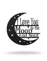 I <b>Love You to the</b> Moon And Back | Steel Roots Decor