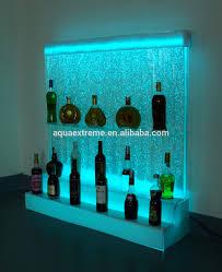 liquor display rack wine back barwith water bubble and let lighting back bar lighting