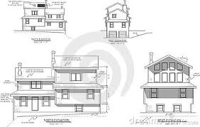 House Plans Elevation View Stock Photography   Image  House plans elevation view