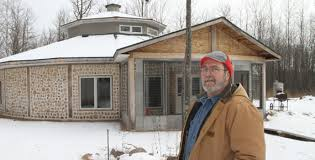 Couple builds cordwood dream house  Couple builds cordwood dream house