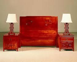 rosewood headboard nightstands asian bedroom furniture