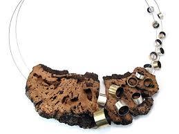 Gustavo Paradiso <b>Necklace</b>: Untitled, 2014 935 silver, <b>cork</b>, bronze ...