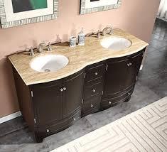 bathroom vanity 60 inch: silkroad exclusive  inch travertine stone top bathroom vanity double sink cabinet