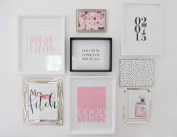 feminine chic wall collage chic office desk