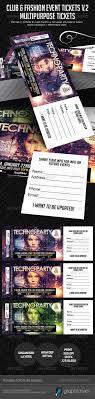 club fashion fashion events and ticket club fashion event multipurpose tickets v 2 photoshop psd ticket samples