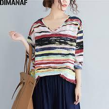 <b>DIMANAF Plus Size</b> T Shirts <b>Women</b> Vintage Linen Basic Large ...