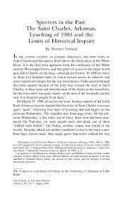 The <b>Saint</b> Charles, Arkansas, Lynching of <b>1904</b> and the Limits of ...