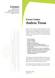 andres truus graphic designer letter resume