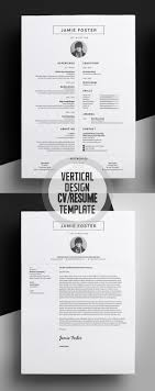 best ideas about graphic designer resume resume beautiful vertical design cv resume template