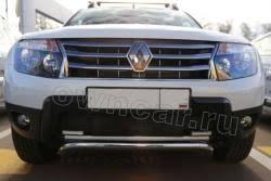 <b>Рамка</b>-<b>сетка для защиты</b> радиатора Renault Duster с ДХО ...