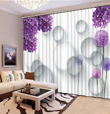 Purple Living Room Curtains Online Shop Purple Flower 3d Window Curtains For Bedding Room