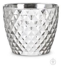 ᐉ <b>Кашпо керамическое</b> Scheurich <b>Mirror</b> Silver фигурный 1,46 л ...
