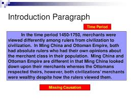 ming ott  comparative sample essaycomparative essay