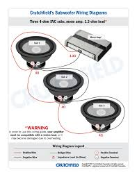 subwoofer wiring diagrams three subwoofers 3 svc 2 ohm mono