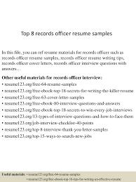 Records Officer Sample Resume Business Data Analyst Sample Resume
