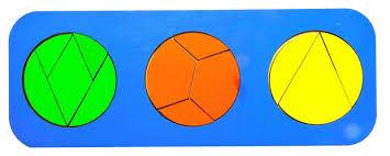 <b>Обучающая игра Taowa Дроби</b> 3 круга (вид 5) синий — купить в ...