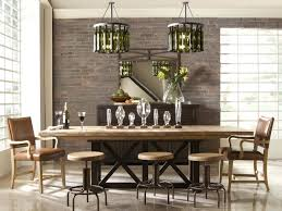 The Brick Dining Room Furniture Natural Varnished Pine Wood Dining Table Dining Living Room Combo