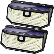 Aootek 182 <b>Led Solar outdoor motion sensor</b> lights upgraded <b>Solar</b> ...