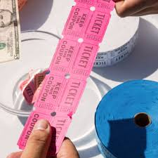 carnival king magenta part raffle tickets roll