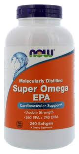 Omega-3 NOW <b>Super Omega EPA</b> 1200 мг 240 капсул - купить в ...